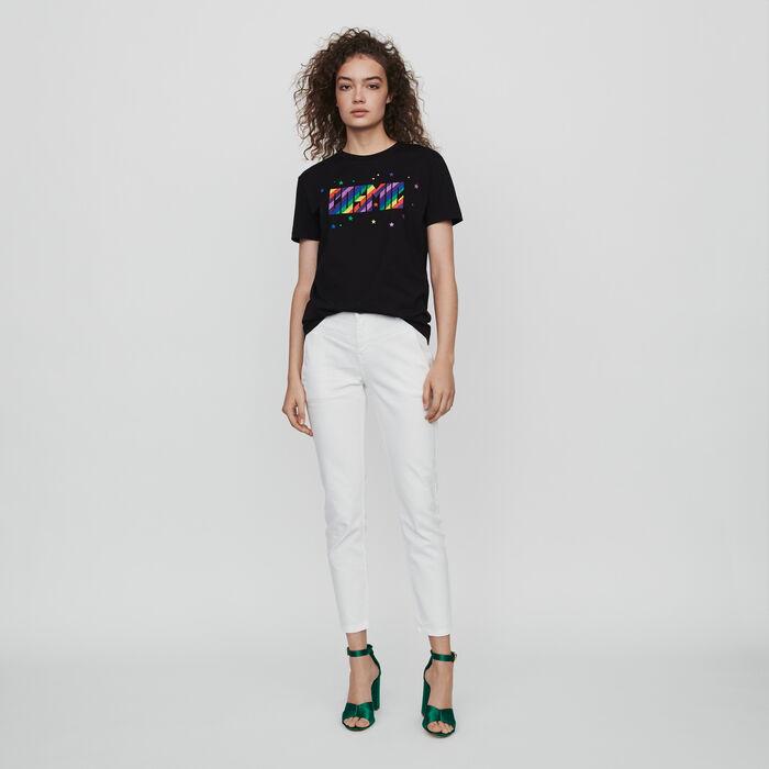 Tee-shirt ricamata : Collezione Inverno colore Nero