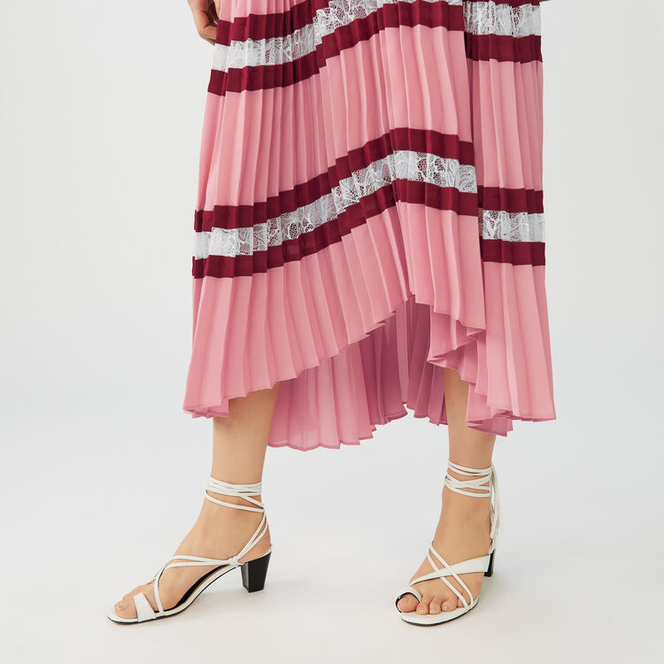Vestito lungo plissettato in crêpe : Vestiti colore Multicolore