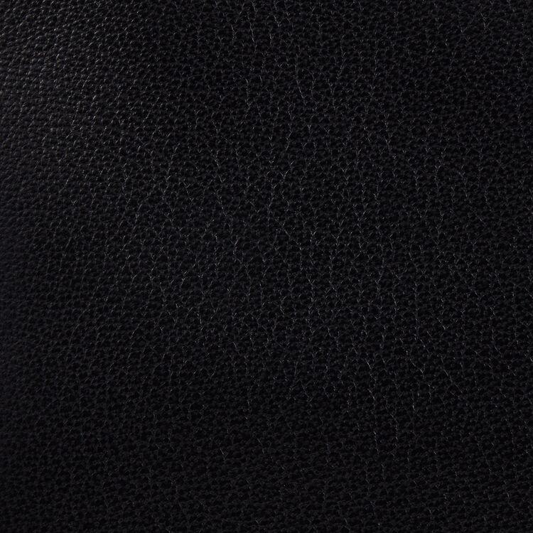 Borsa a M con frange in pelle : Pelle colore Nero