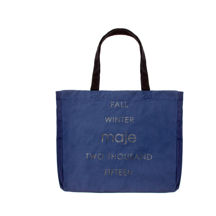 Shopping bag in cotone : Gift with purchase colore Blu
