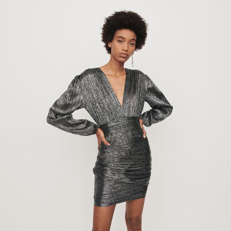 Vestito drappeggiato in Lurex : Vestiti colore Argento