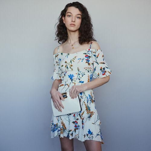 Vestito corto stampato con spalle nude : Vestiti colore Stampato