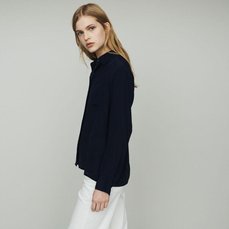 Camicia in seta : Tops e Camicie colore Blu Marino
