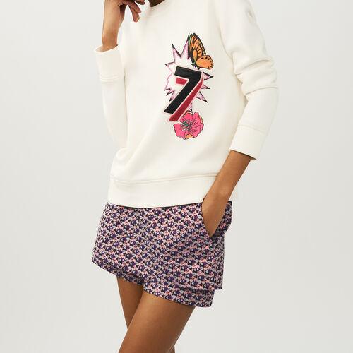Vestito lungo plissettato : Maglieria colore ECRU