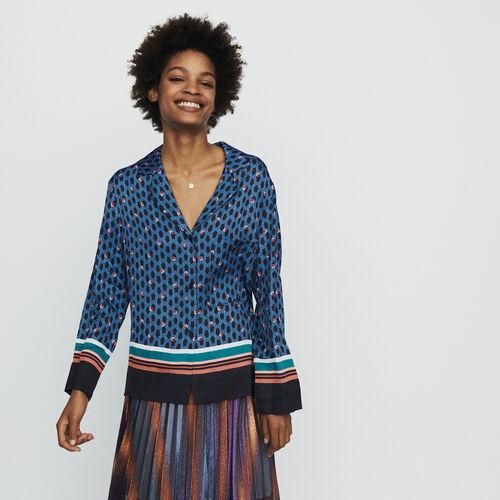 Camicia stile pigiama con stampa : Tops e Camicie colore IMPRIME