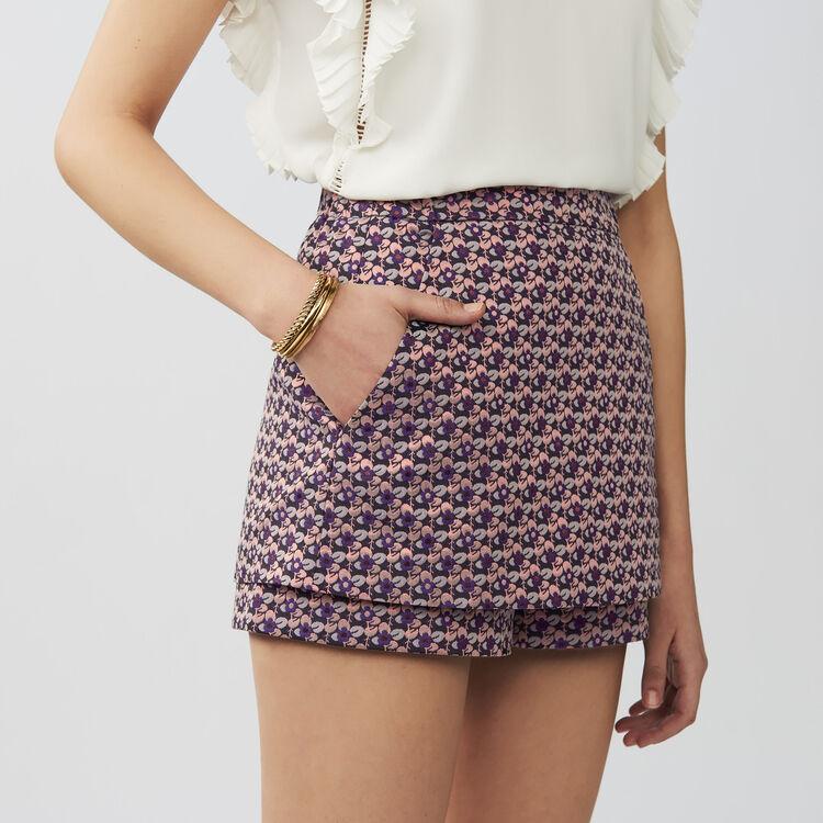 Panta-gonna in jacquard : Gonne e shorts colore Jacquard