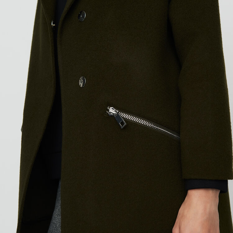 Cappotto in lana double face : Cappotti colore Kaki
