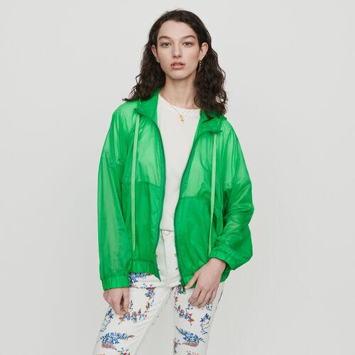 Giacca a vento leggera con cappuccio : Cappotti colore Verde