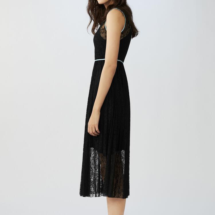 Vestito senza maniche in pizzo : Vestiti colore Nero