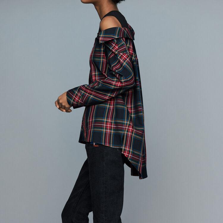Camicia destrutturata a quadri : Prêt-à-porter colore CARREAUX