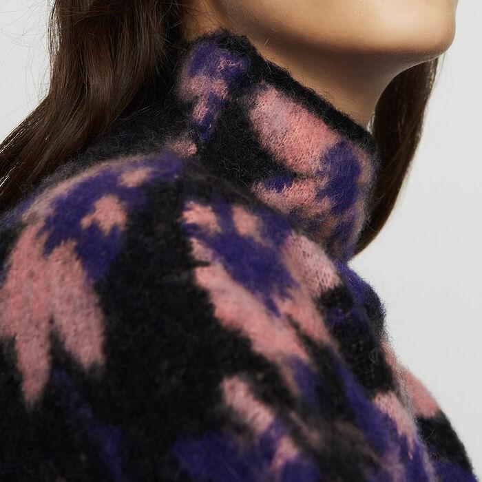 Pull tampato in misto lana : Maglieria colore Multicolore