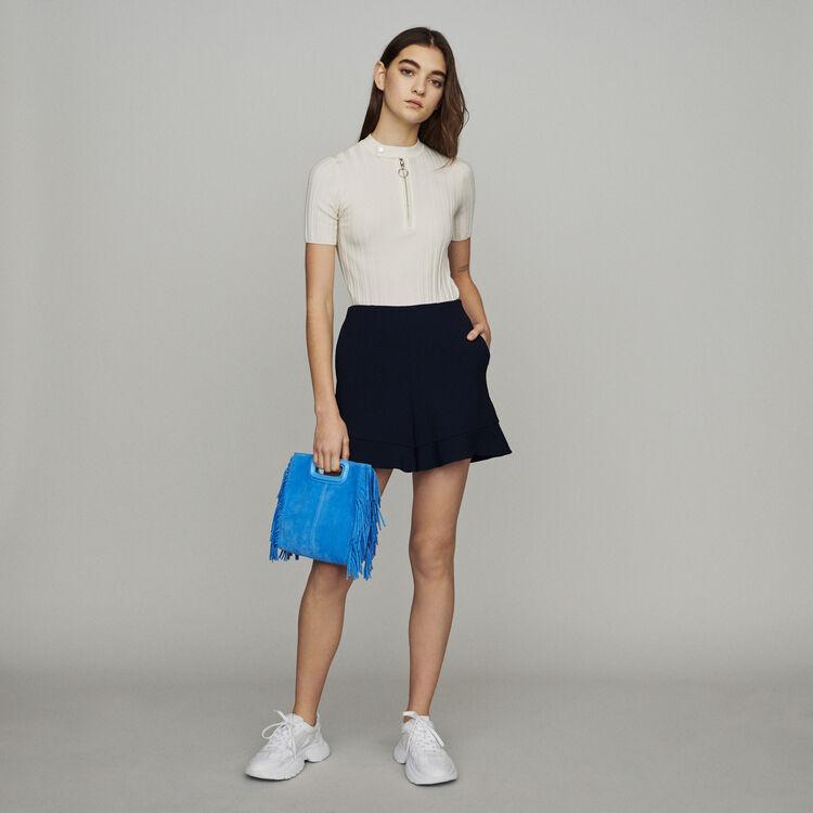 Short con volant : Gonne e shorts colore Blu Marino