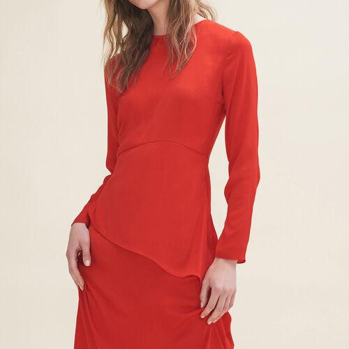 Abito lungo asimmetrico : Vestiti colore Rosso
