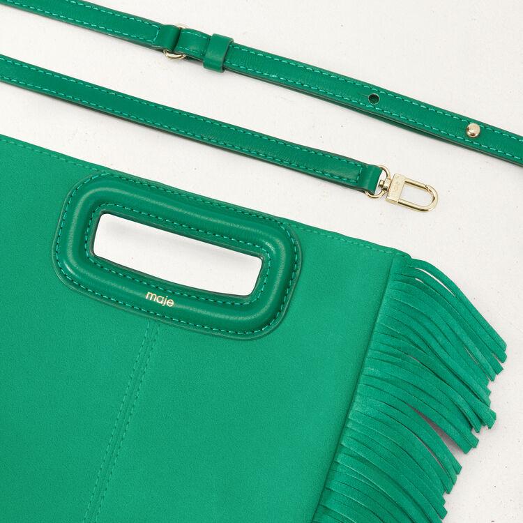 Borsa M in pelle scamosciata : Borse M colore Smeraldo