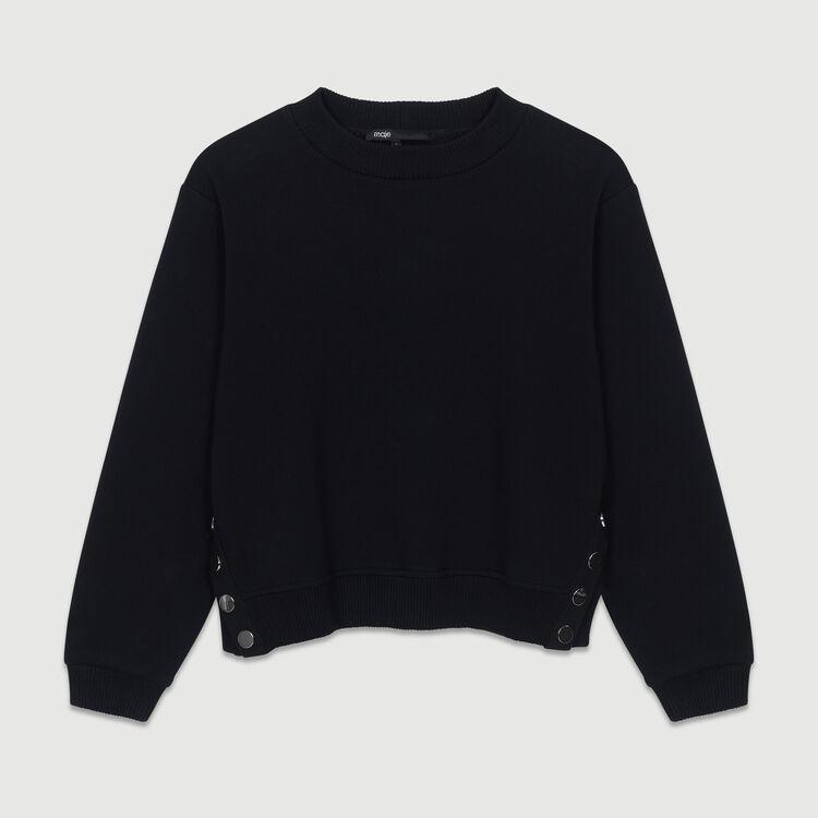 Felpa con ricami sulla schiena : Urban colore Nero