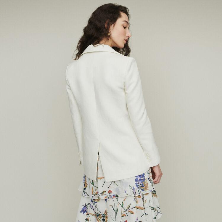 Giacca tailleur in misto lino : Giacche colore Bianco