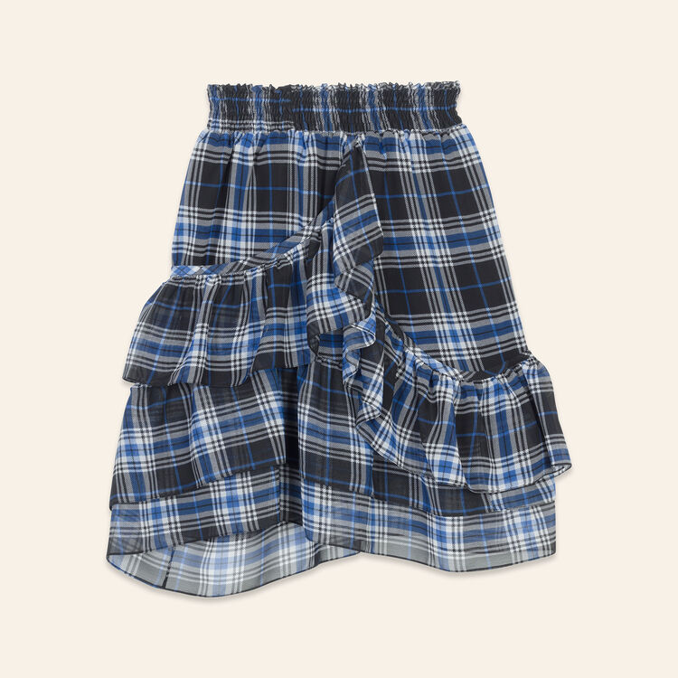 Gonna con volant a quadri : Gonne e shorts colore IMPRIME