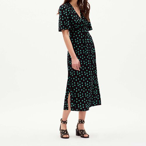 V neck printed dress : Vestiti colore IMPRIME