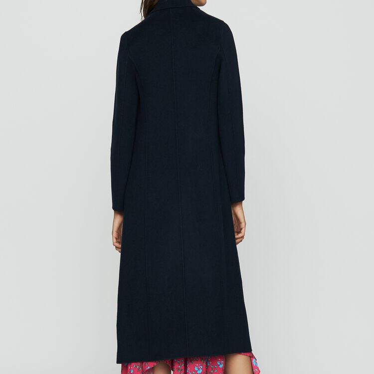 Cappotto lungo in lana double face : Prêt-à-porter colore VERT
