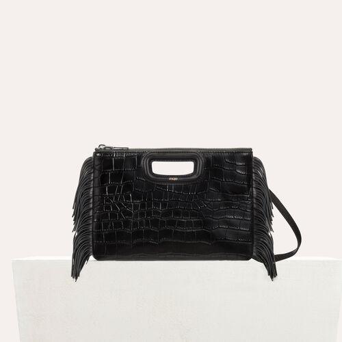Pochette M Duo in coccodrillo : Nuova collezione colore Nero