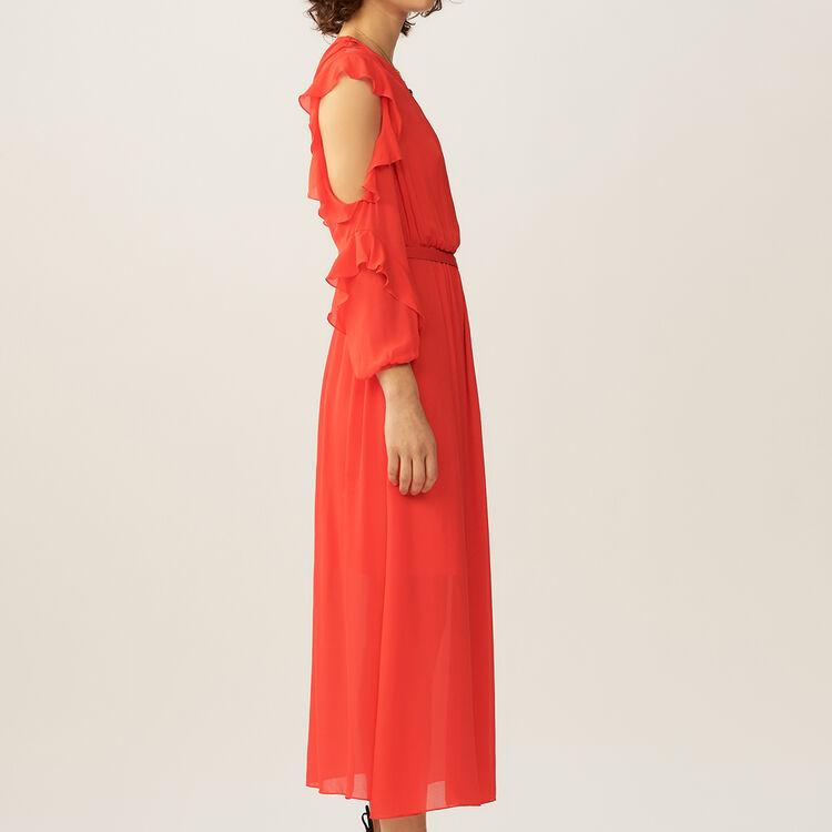 Vestito lungo a portafoglio : Vestiti colore ROUGE