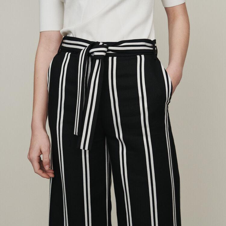 Pantaloni larghi 7/8 a righe : Pantaloni e Jeans colore A Righe