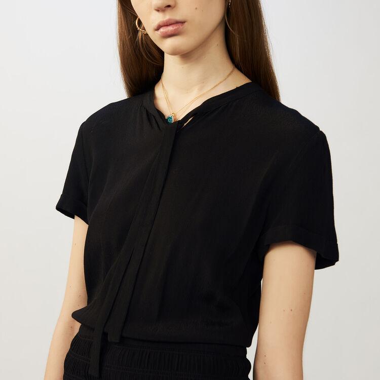 Vestito con volant e increspature : Vestiti colore Nero
