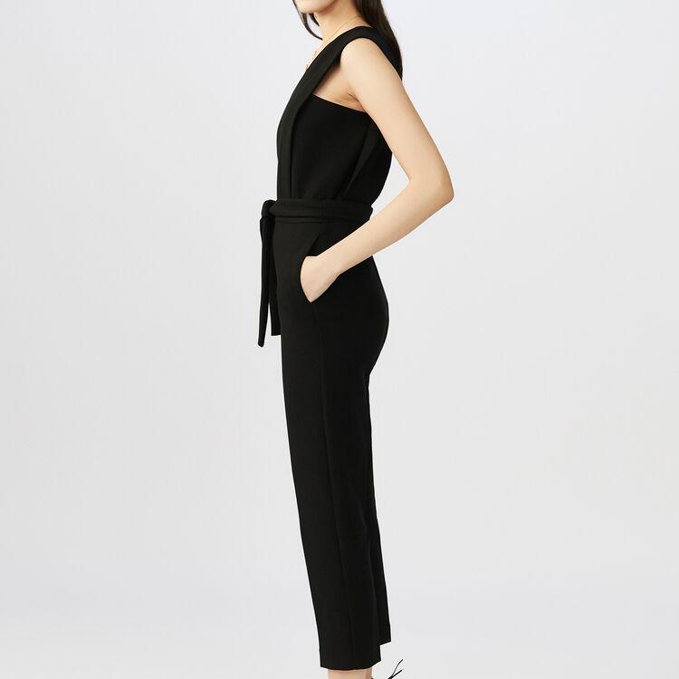 sleeveless Jumpsuit : Pantaloni colore Nero
