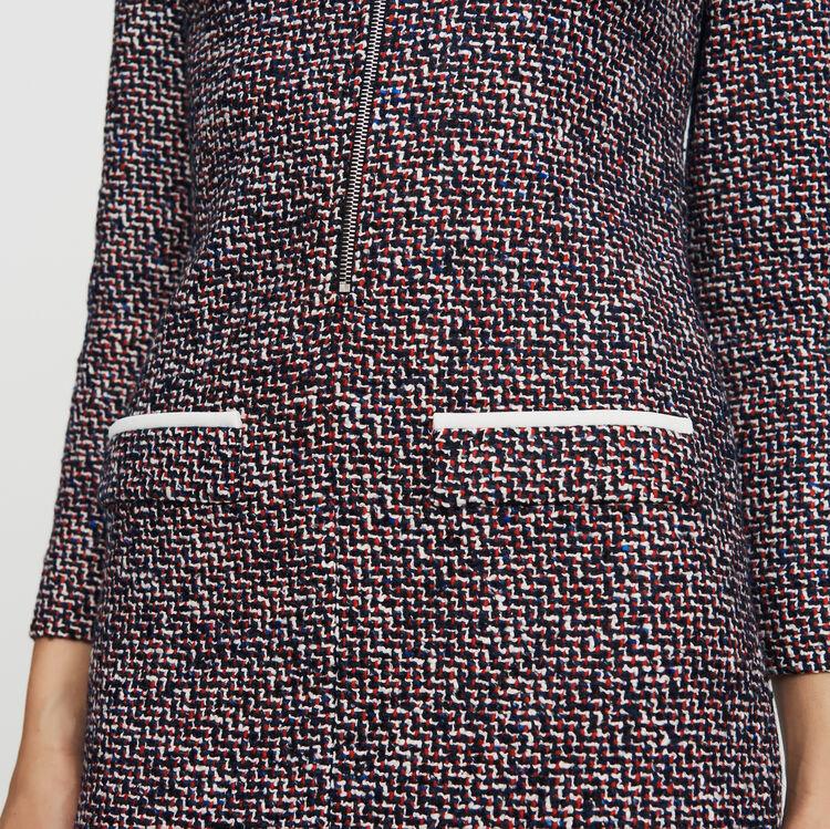 Scamiciato in tweed : Vestiti colore Jacquard