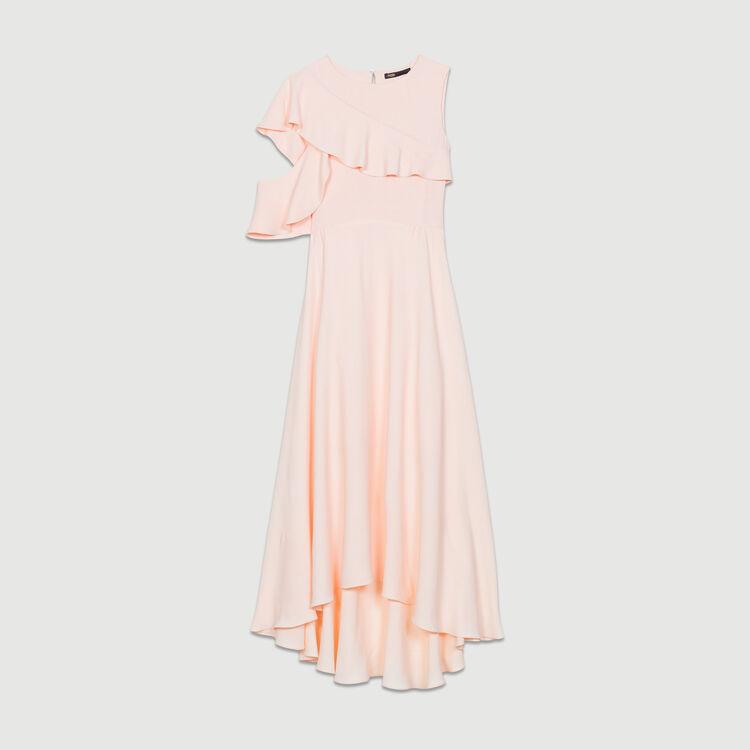 Vestito lungo asimmetrico : Nuova Collezione colore PECHE