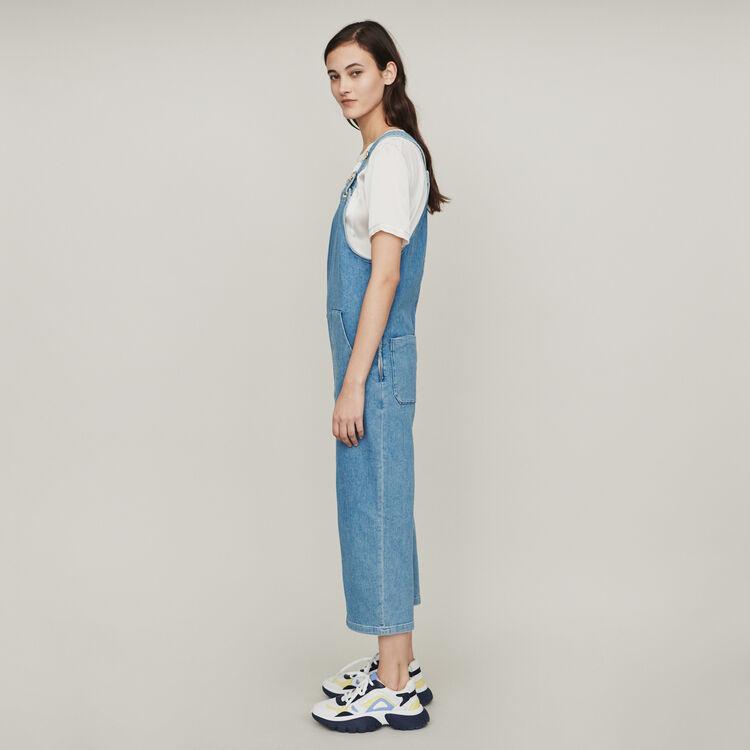 Tuta pantalone in jeans : Pantaloni e Jeans colore Denim