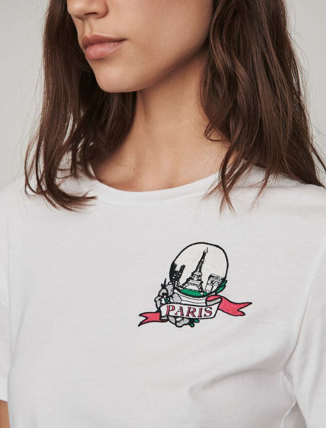 Tee-shirt ricamata -  - MAJE
