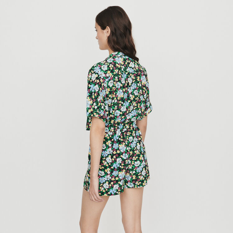 Tuta pantalone con stampa floreale : Gonne e shorts colore IMPRIME