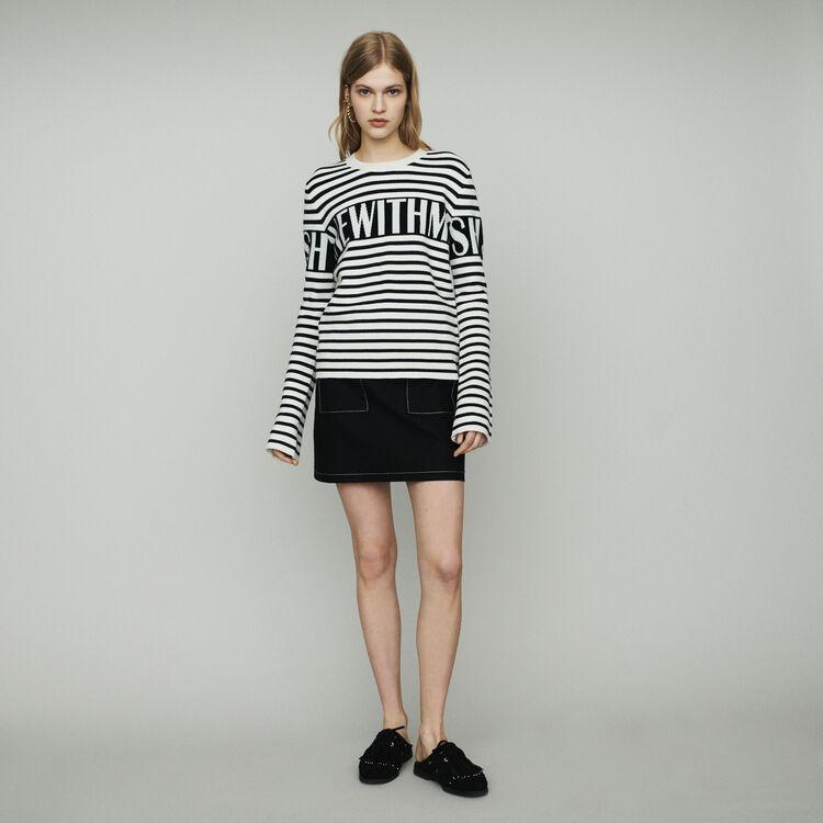 Pull a righe stile marinaro : Pullover e cardigan colore ECRU