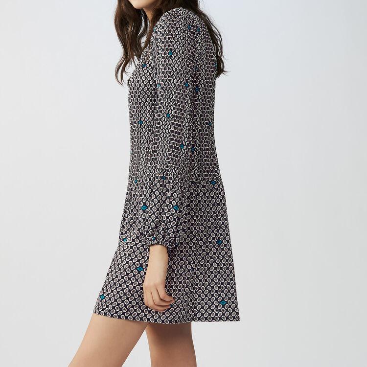 Pleated printed dress : Vestiti colore IMPRIME