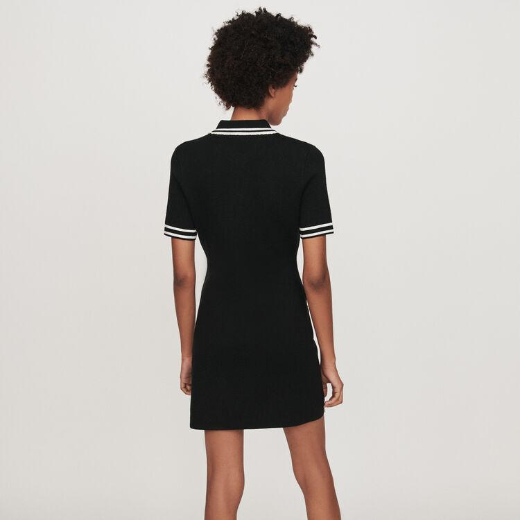 Vestito dritto con dettagli gioiello : Vestiti colore Nero