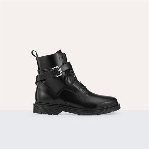 Stivali alti in pelle : Accessori colore Nero