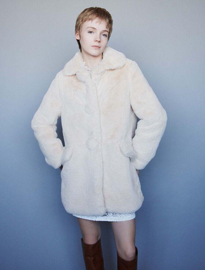 Cappotto in eco pelliccia - Midseason-Sales_IE_Bestsellers - MAJE