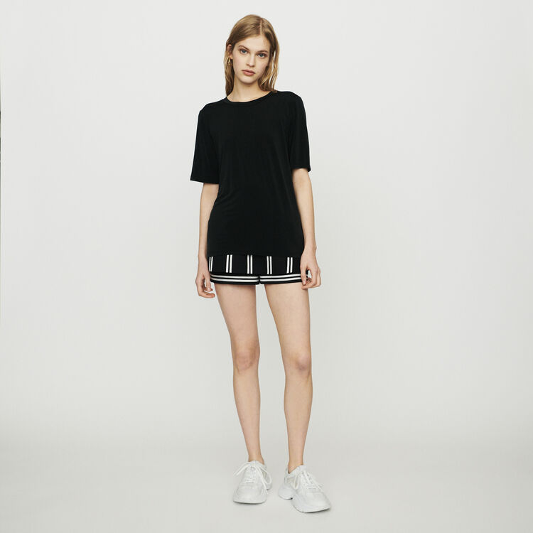 Tee-shirt in cupro : T-Shirts colore NERO