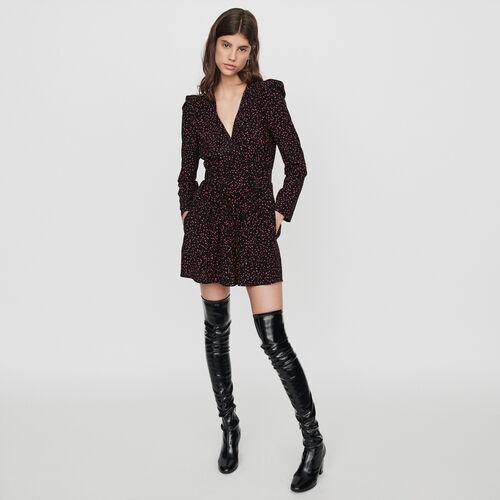Tuta pantalone corta trompe-l'œil : Collezione Inverno colore Nero