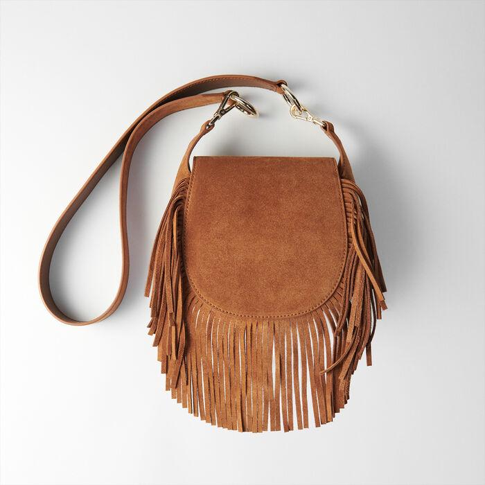 Suede fringe Gyps handbag : Nouveautés Sacs colore Cognac