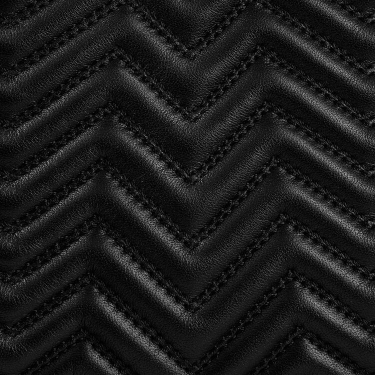 Borsa M in pelle matelassé : Borse M colore Nero