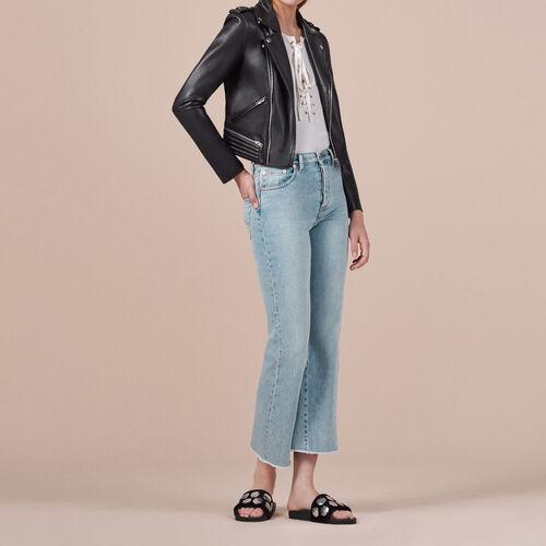Jeans in cotone svasati : Pantaloni & jeans colore Blu