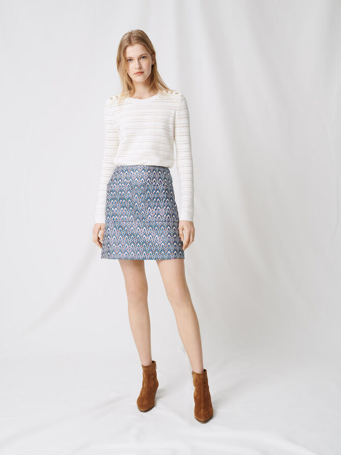 Gonna in jacquard lurex - Gonne e shorts - MAJE
