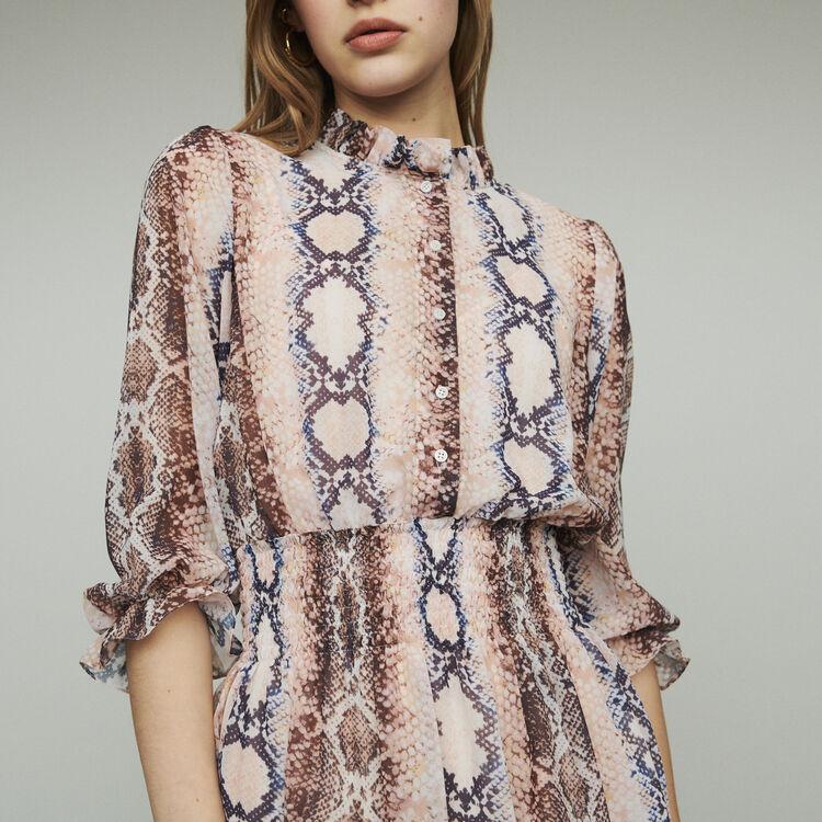 Vestito plissettato con righe : Vestiti colore Stampato