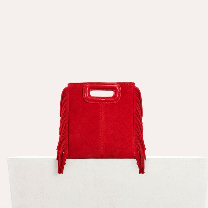 Mini-borsa M in suede : M Mini colore Rosso