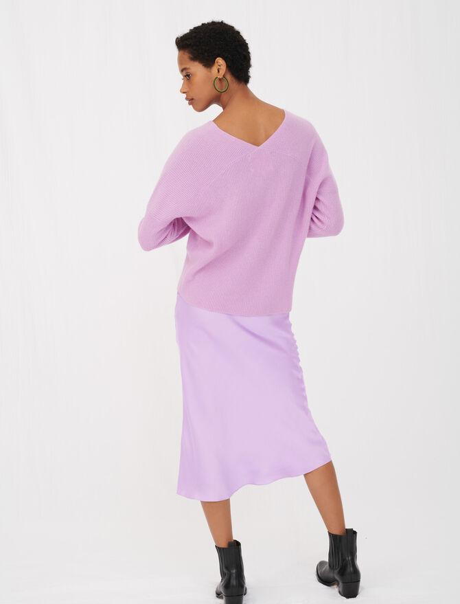 Maglione in cachemire con scollo a V - Nuova collezione - MAJE
