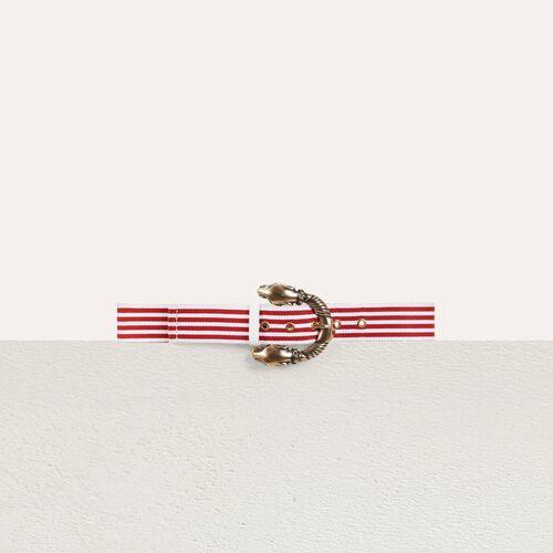 Striped belt : Cinture colore Rosso