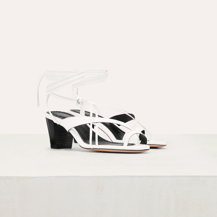 Sandali in pelle allacciati : questa settimana colore Bianco