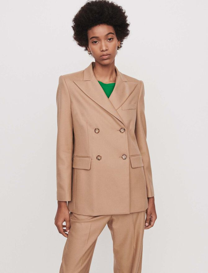 Staright-cut double breasted jacket - Vedi tutto - MAJE